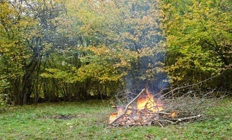 elda trädgårdsavfall